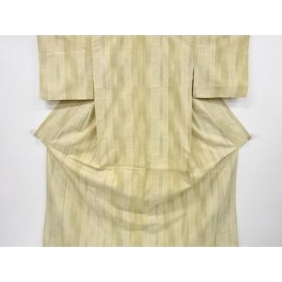 宗sou 縞織り出し本場結城紬80亀甲着物(石下)【リサイクル】【着】