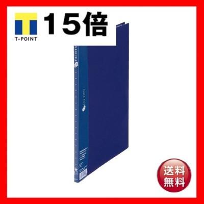 (まとめ)プラス クリアーファイルスーパーエコノミータイプ A4タテ 10ポケット 背幅10mm ネイビー FC-121EL 1冊 〔×30セット〕
