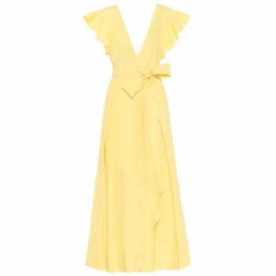 カリタ Kalita レディース ワンピース マキシ丈 ワンピース・ドレス Poet By The Sea cotton maxi dress Pale Yellow
