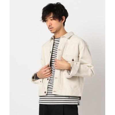 【フレディアンドグロスター】 cotton-denim jacket #WZSP-UM204 メンズ エクリュ M FREDY&GLOSTER