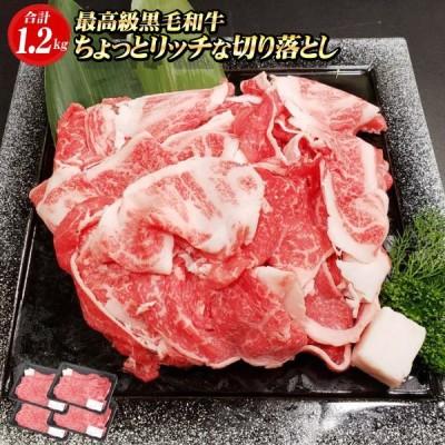 黒毛和牛 ちょっとリッチな切り落とし 1.2kg(300g×4パック)黒毛和牛 切り落とし 牛肉 国産 すき焼き 肉