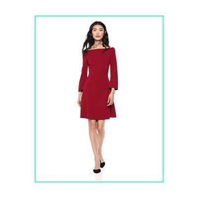 Lark & Ro Women's Long Sleeve Off the Shoulder Fit and Flare Dress, red, 6並行輸入品