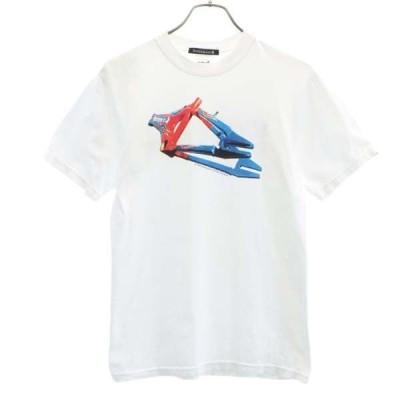 バンザイペイント プリント 半袖 Tシャツ S 白 Bonzaipaint メンズ 古着 201009 メール便可