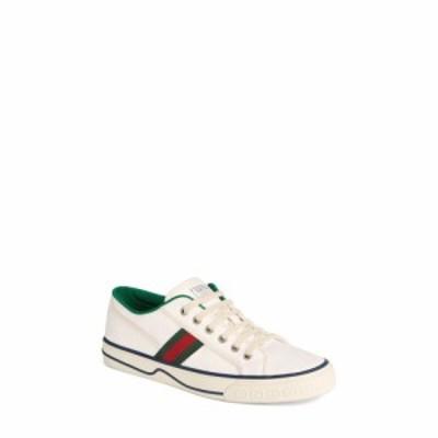 グッチ GUCCI メンズ スニーカー ローカット シューズ・靴 Web Canvas Low Top Sneaker Ivory Multi
