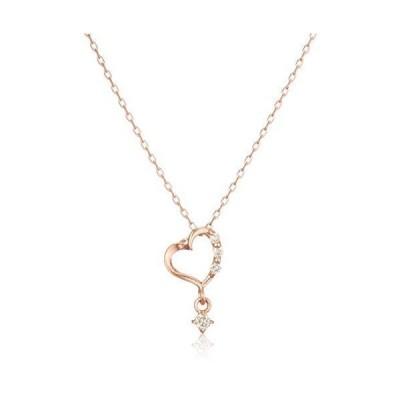 ブルーム BLOOM K10 ピンクゴールド ダイヤモンド ハートモチーフ ネックレス BAPLB1663940