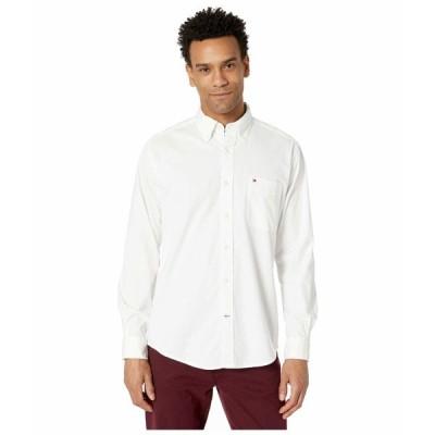 トミー ヒルフィガー シャツ トップス メンズ Capote Stretch Shirt Long Sleeve Bright White