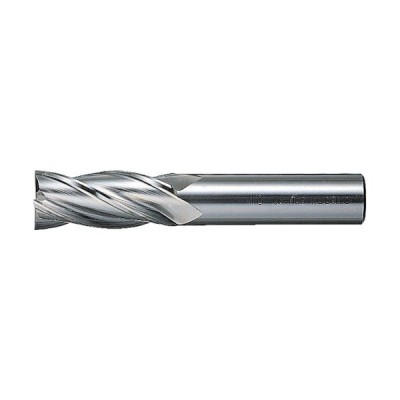 三菱K 4枚刃センタカット ハイススクエアエンドミルミディアム刃長(M)6mm 4MCD0600