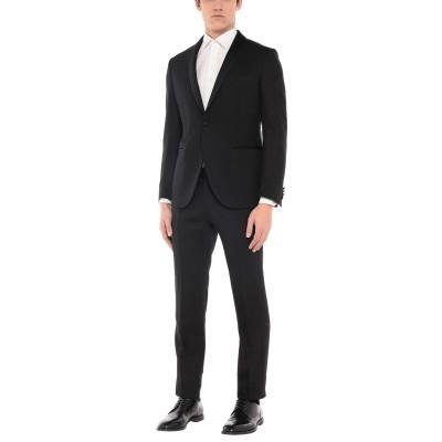 LUIGI BIANCHI Mantova スーツ ブラック 52 ウール 52% / レーヨン 48% スーツ