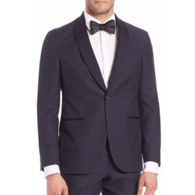 サックスフィフスアベニュー Men Clothing Modern Wool-Blend Tuxedo Jacket