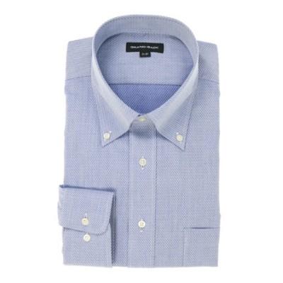 【大きいサイズ】 形態安定ボタンダウン長袖ビジネスドレスシャツ