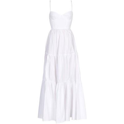 ELISABETTA FRANCHI ロングワンピース&ドレス ホワイト 42 コットン 100% ロングワンピース&ドレス