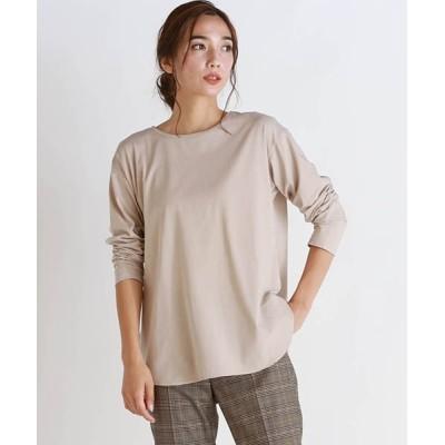 LAUTREAMONT ONLINE SHOP / ツイステッドドライベアシンプルロングTシャツ WOMEN トップス > Tシャツ/カットソー