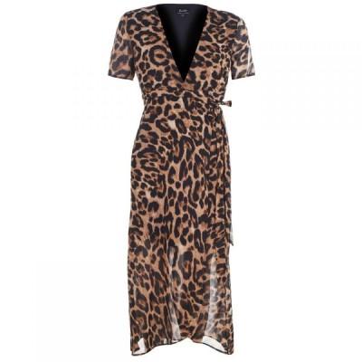 バルドー Bardot レディース ワンピース ラップドレス ワンピース・ドレス Leopard Wrap Dress BOLD LEOPARD