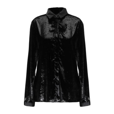 ジャストカヴァリ JUST CAVALLI シャツ ブラック 40 ポリエステル 100% シャツ