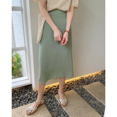 monodaily レディース スカート Mending Flare Skirt
