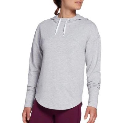 DSG パーカー・スウェットシャツ アウター レディース DSG Women's Fleece Hoodie (Regular and Plus) LightHeatherGrey