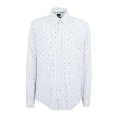 BOSS HUGO BOSS シャツ ホワイト M コットン 100% シャツ