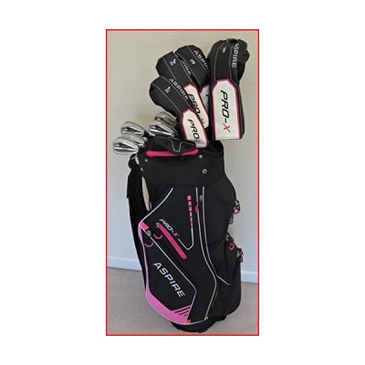Ladies Complete Golf Club Set - Driver, Fairway Wood, 2 Hybrid Clubs, Irons, Putter, and Deluxe Bag Pink Right Hand【並行輸入品】