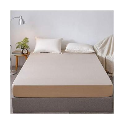 MH MYLUNE HOME ボックスシーツ セミダブル 洗いざらし綿100% ベッドシーツ ベッドカバー 毛玉なし 抗菌防臭・防ダニ 洗え