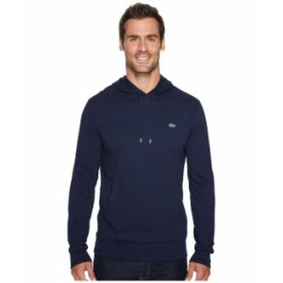 ラコステ メンズ パーカー・スウェット アウター Jersey T-Shirt Hoodie Navy Blue