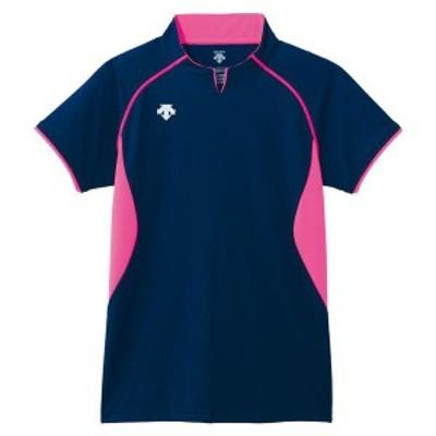 DESCENTE バレー 半袖ゲームシャツ 16SS ネイビー ケームシャツ・パンツ(dss4420-nvy)