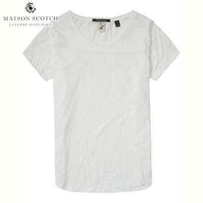 メゾンスコッチ MAISON SCOTCH 正規販売店 レディース 半袖Tシャツ Crew neck tee 102147
