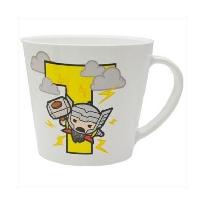 イニシャルMUG マイティソー マグカップ マーベル アルファベット T ヤクセル 250ml ギフト食器 グッズ