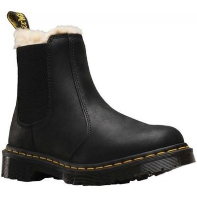 ドクターマーチン Dr. Martens レディース ブーツ チェルシーブーツ シューズ・靴 Leonore Fur Lined Chelsea Boot Black/Black Burnished Wyoming
