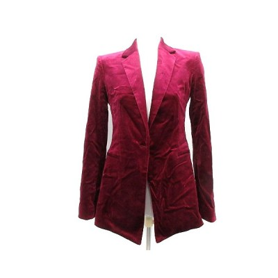 【中古】セオリー theory 17AW ジャケット テーラード ベロア 2 紫 パープル /SR レディース 【ベクトル 古着】