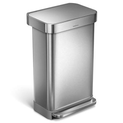 [Simplehuman]レクタンギュラーステップダストボックス 45L ホーム・キッチン雑貨