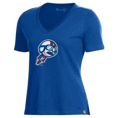 アンダーアーマー レディース Tシャツ トップス Kannapolis Cannon Ballers Under Armour Women's V-Neck T-Shirt