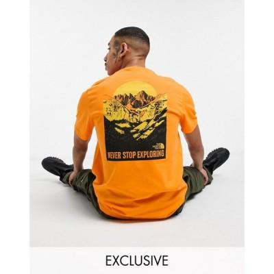 ザ ノースフェイス The North Face メンズ Tシャツ トップス Back Natural Wonders t-shirt in orange フレイム