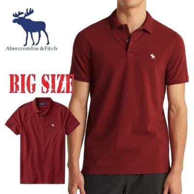 大きいサイズ メンズ  アバクロ Abercrombie&Fitch 半袖 ストレッチ ポロシャツ XXL [M便 1/1]