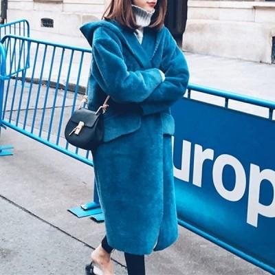 ウール調 フード付き コート ミモレ丈 無地 きれいめカラー シンプル お出かけ デート 女子会 アウター