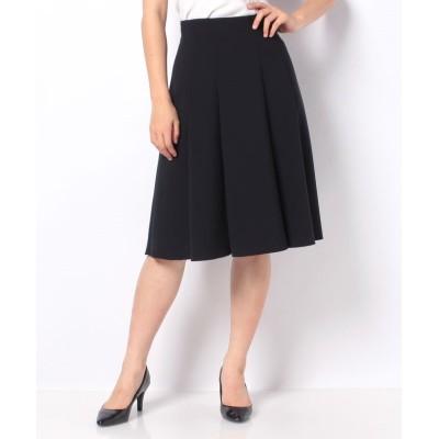 【ミス ジェイ】 シルキーストレッチ スカート レディース ネイビー 40 MISS J