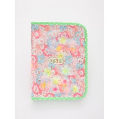 フェフェ fafa 母子手帳ケース ダイアリーケース 花柄 ピンク 通帳収納 パスポートケース マルチケース BABETTE 5265-0001