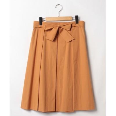 【ナチュラルビューティー(LARGEサイズ)】 タフタカラースカート レディース オレンジ 15 NATURAL BEAUTY LARGE