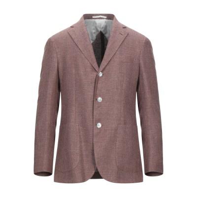 BARBA Napoli テーラードジャケット ブラウン 50 リネン 55% / シルク 25% / コットン 20% テーラードジャケット