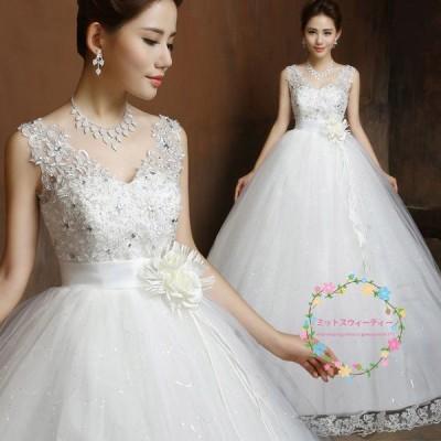 ウェディングドレス マタニティ エンパイア 安い 白 花嫁 ロングドレス 結婚式 ウエディングドレス 披露宴 二次会 パーティードレス ブライダル 大きいサイズ