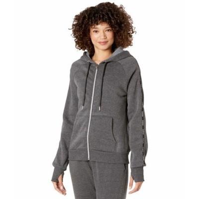 ビビスポーツ パーカー・スウェットシャツ アウター レディース Mini Logo Tape Jacket Charcoal Grey