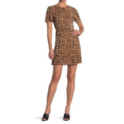 コレクティブコンセプツ レディース ワンピース トップス Short Sleeve Leopard Print Dress LEOPARD PRINT