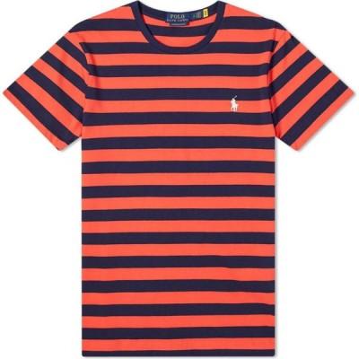 ラルフ ローレン Polo Ralph Lauren メンズ Tシャツ トップス striped tee Racing Red/French Navy