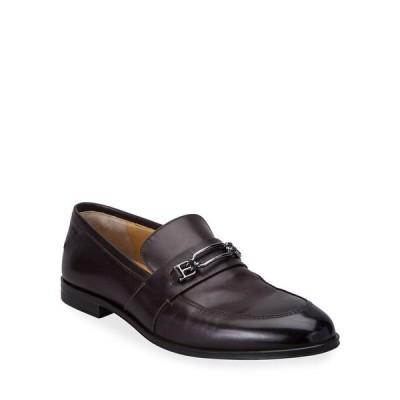 バリー メンズ スリッポン・ローファー シューズ Men's Wesper Leather Loafers w/ B-Chain Bit