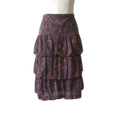 【新品】 JIZZO INTERNATIONAL ジッツォインターナショナル フリルロングスカート (ストレッチ) 110002