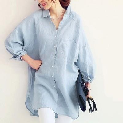 トップスポロシャツシャツレディース大きいサイズコットン綿100%マタニティ白