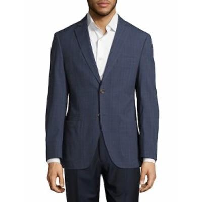 Men Clothing Windowpane Plaid Linen Jacket