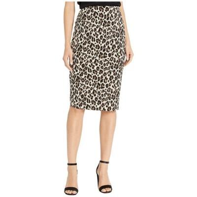 ヴィンス カムート Vince Camuto レディース ひざ丈スカート スカート elegant leopard midi tube skirt Rich Black