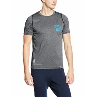 (アシックス)asics トレーニング半袖Tシャツ A77Tシャツ XA121N 90 ブラック杢 S
