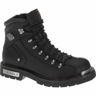 ハーレーダビッドソン Harley-Davidson メンズ ブーツ シューズ・靴 Electron Motorcycle Boot Black Full Grain Leather