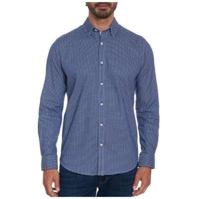 ロバートグラハム メンズ シャツ トップス Check Augusto Tailored Fit Shirt Navy